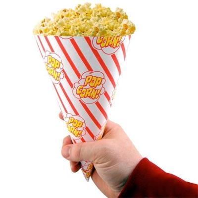 Popcornzakjes cylinder vorm 1oz